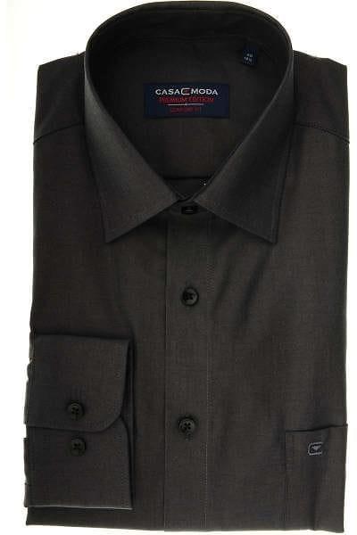 Casa Moda Comfort Fit Hemd anthrazit, Einfarbig