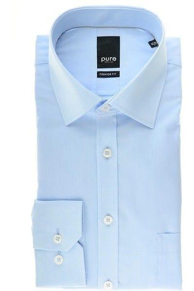 Pure Hemd - Fashion Fit - hellblau, Einfarbig