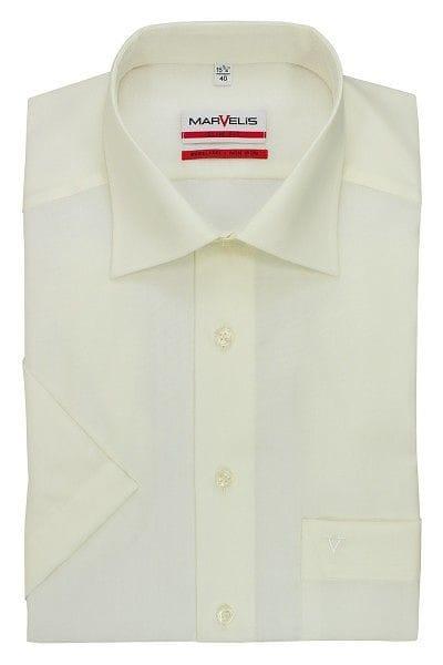 Marvelis Hemd - Modern Fit - hellbeige, Einfarbig
