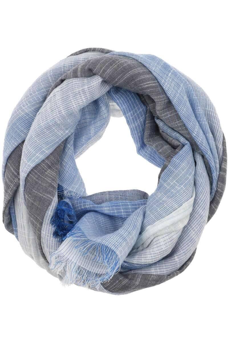 Hochwertiger Casa Moda Schal In Der Farbe Blau Grau Gestreift Der Schal Ist Aus 100 Baumwolle Hemden De