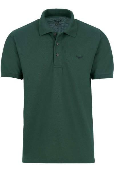 TRIGEMA Comfort Fit Poloshirt dunkelgrün, Einfarbig