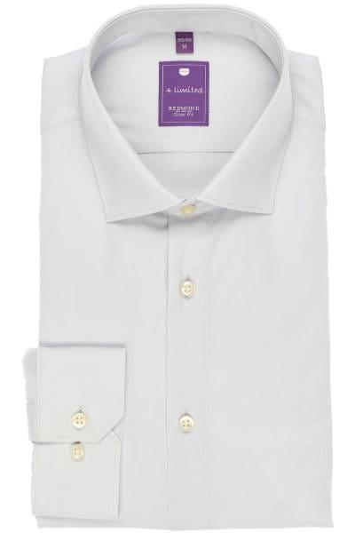 Redmond Slim Fit Hemd grau, Einfarbig