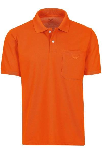 TRIGEMA Comfort Fit Poloshirt orange, Einfarbig