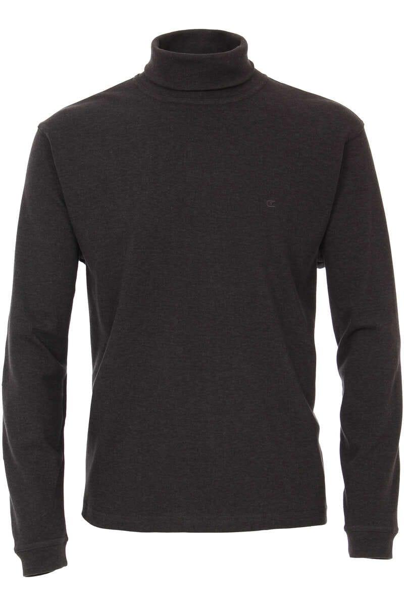 Casa Moda Casual Modern Fit Rollkragenshirt Stehkragen grau, einfarbig 3XL