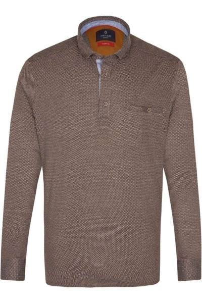 Hatico Modern Fit Hemd braun, Einfarbig