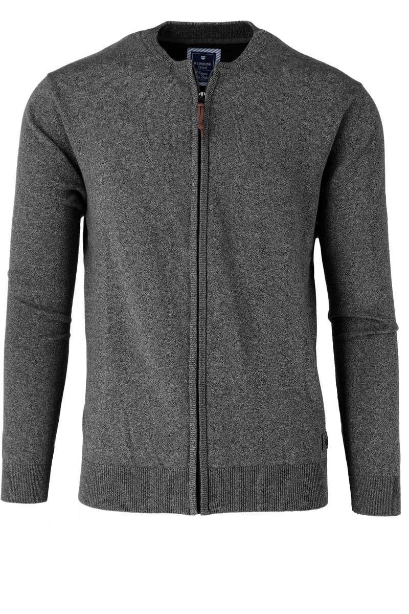 Redmond Cardigan Zip grau, einfarbig S