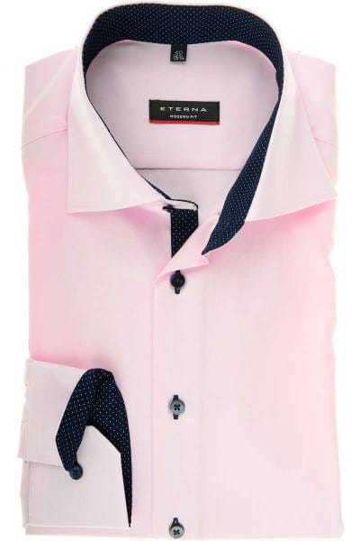 Eterna Hemd - Modern Fit - rosa, Einfarbig