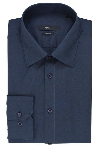 Venti Hemd - Slim Fit - dunkelblau, Einfarbig