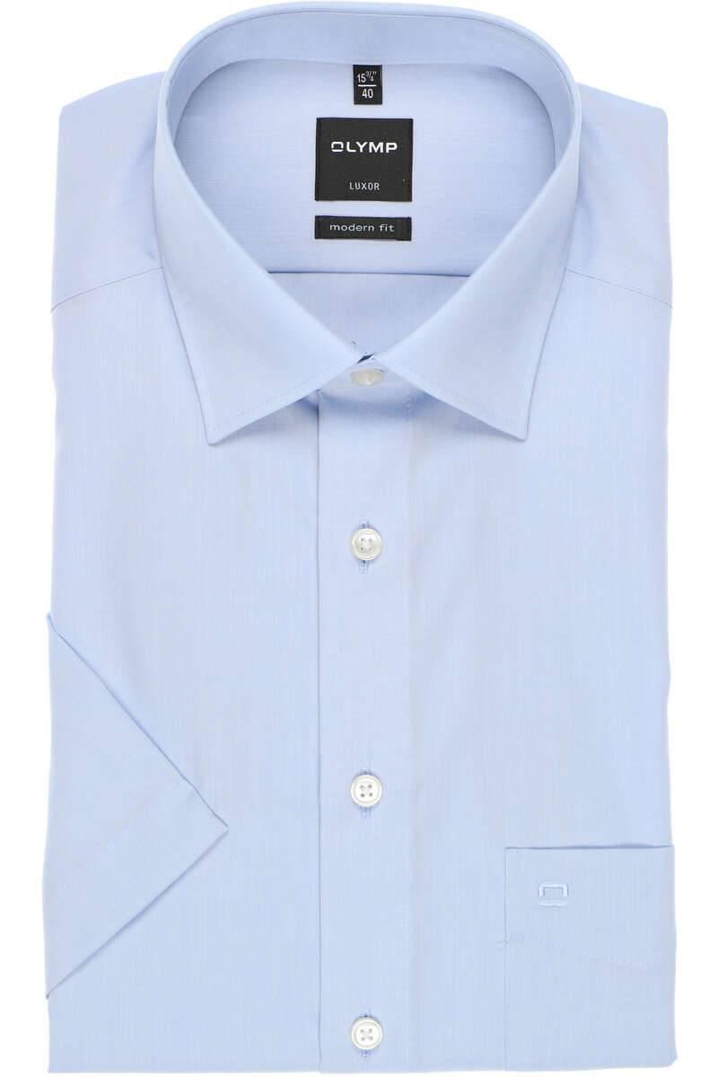 Olymp Luxor Modern Fit Hemd bleu, Einfarbig