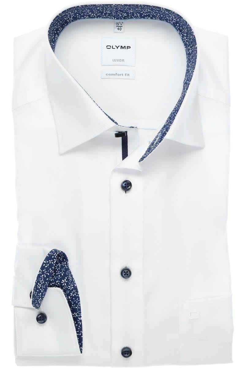 OLYMP Luxor Comfort Fit Hemd weiss, Faux-Uni