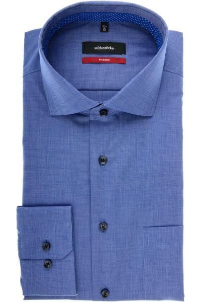 Seidensticker Modern Fit Hemd mittelblau, Einfarbig