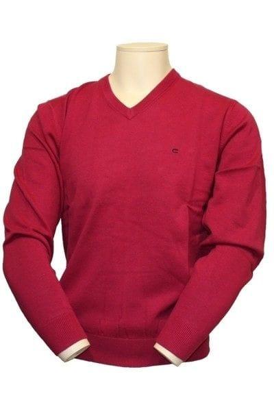 Casa Moda Strick - V-Ausschnitt Pullover - rot