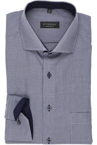 ETERNA Comfort Fit Hemd marine, Strukturiert