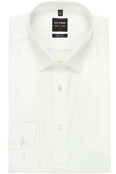 Olymp Hemd - Body Fit - beige, Einfarbig