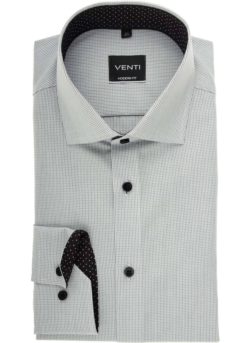 Venti Modern Fit Hemd schwarz/weiss, Kariert