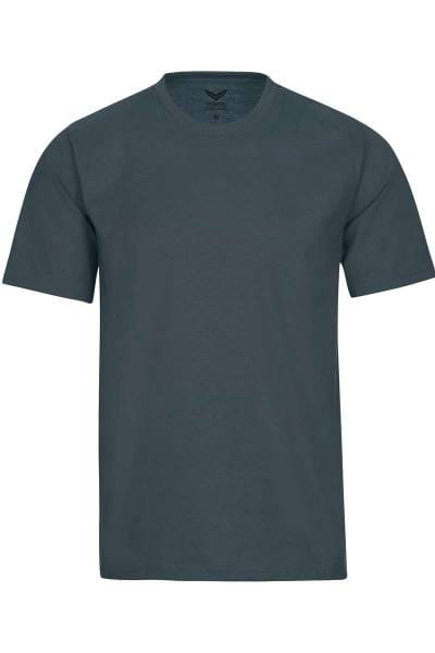 TRIGEMA T-Shirt Rundhals anthrazit, einfarbig