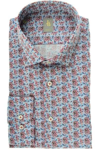 Jacques Britt Slim Fit Hemd rot/blau, Paisley