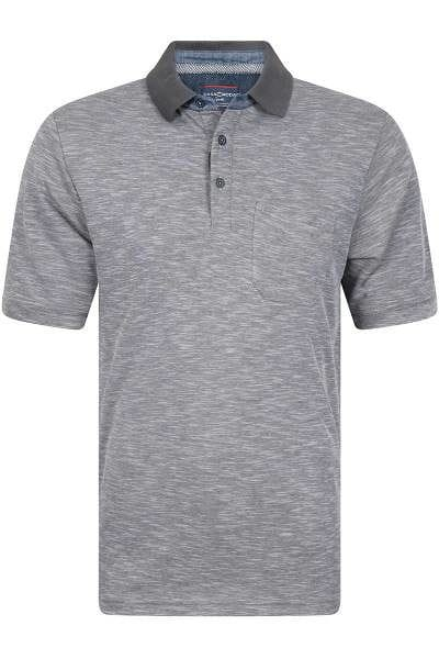 hochwertiges casa moda poloshirt in der farbe dunkelgrau zweifarbig das polo hemd ist. Black Bedroom Furniture Sets. Home Design Ideas