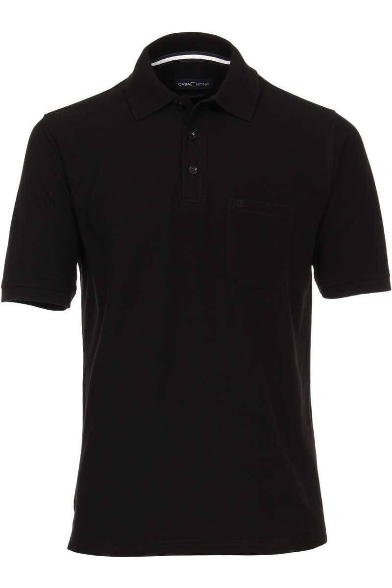 Casa Moda Poloshirt schwarz, Einfarbig