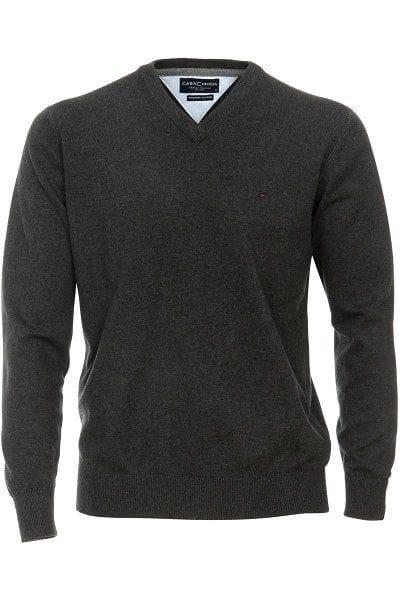 Casa Moda Strick - V-Ausschnitt Pullover - graphit
