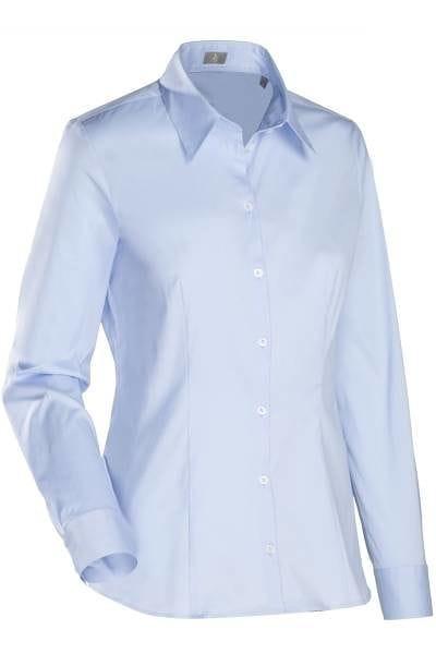Jacques Britt Bluse Custom Fit - hellblau, Einfarbig