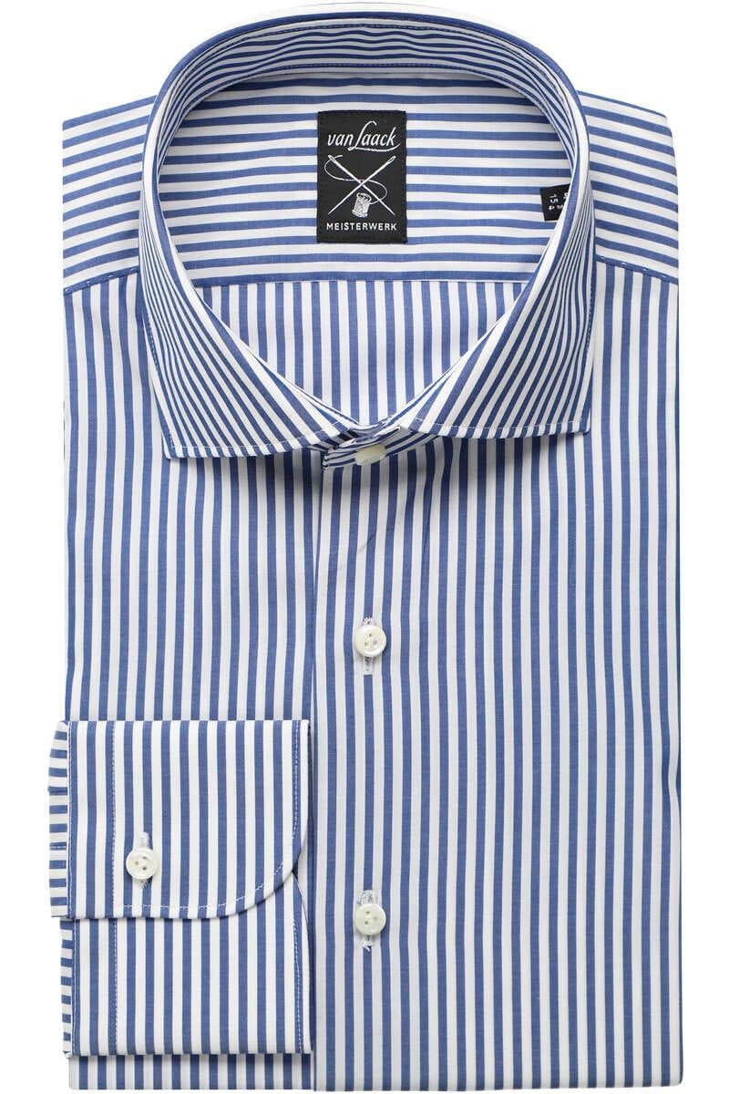 Van Laack Tailor Fit Hemd weiss/blau, Gestreift 41 - L