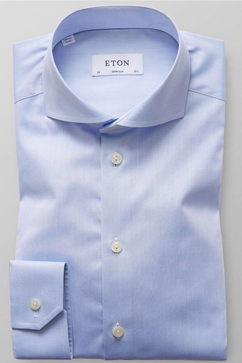 Eton Hemd - Super Slim - hellblau, Einfarbig