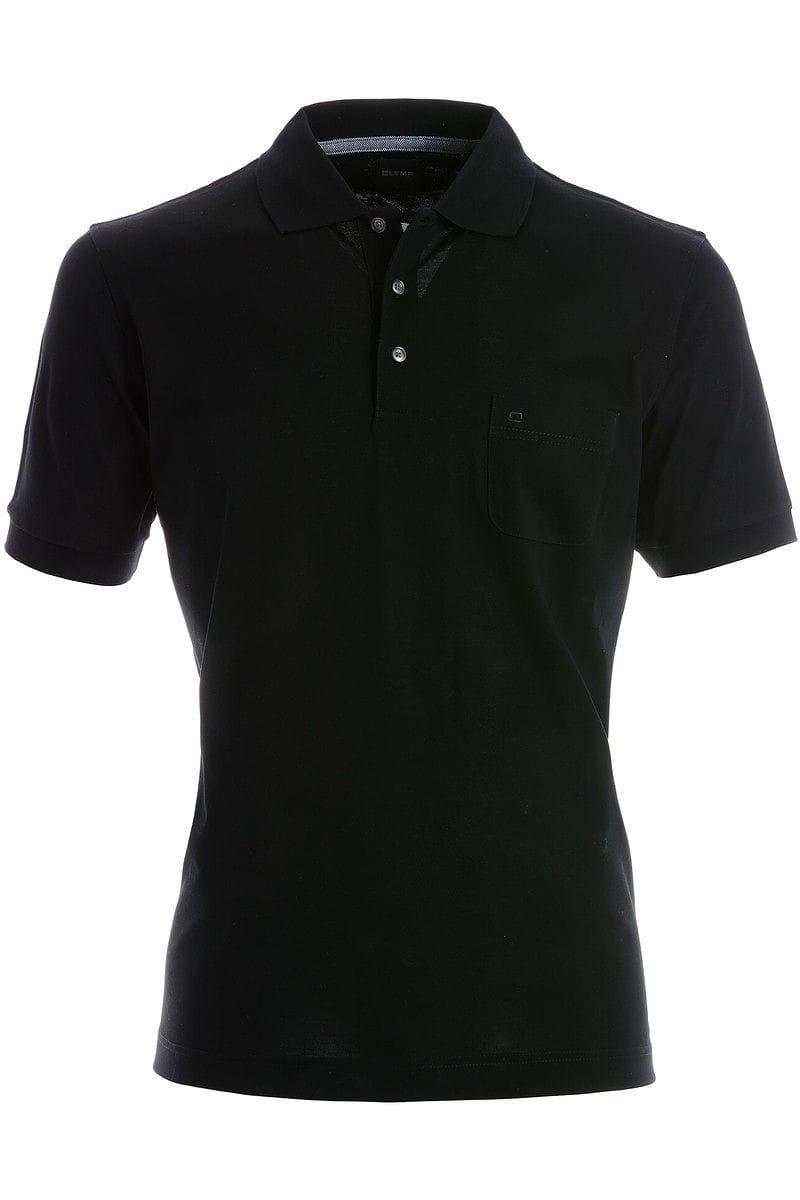 Olymp Modern Fit Poloshirt schwarz, Einfarbig