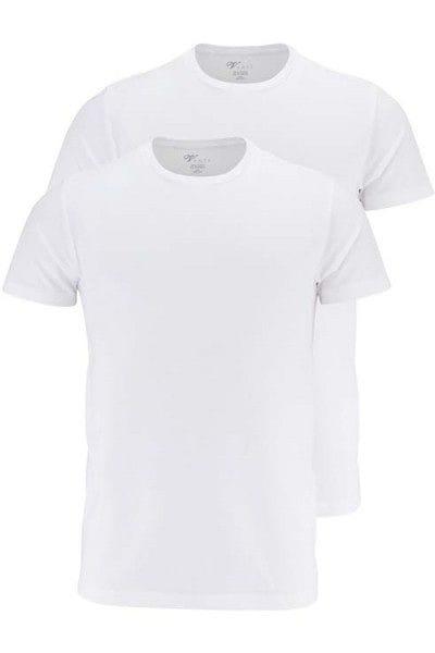 Venti T-Shirt - Rundhals - weiss, Einfarbig