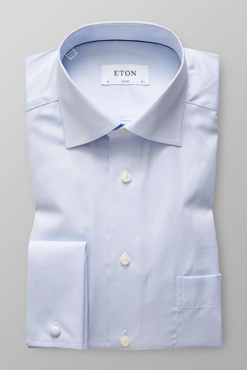 ETON Classic Fit Hemd blau, Faux-uni 43 - XL