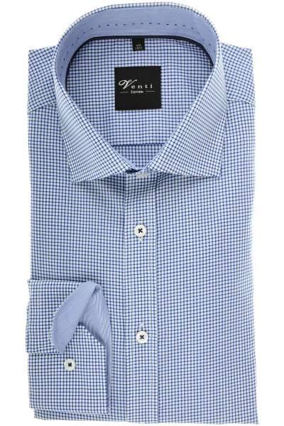 Venti Modern Fit Hemd blau/weiss, Vichykaro