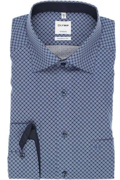 OLYMP Tendenz Modern Fit Hemd marine/blau, Gemustert