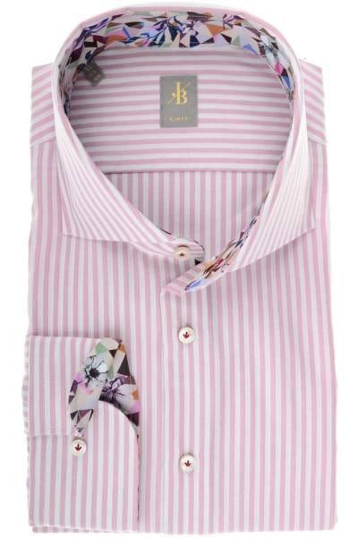 Jacques Britt Slim Fit Hemd rosa/weiss, Gestreift
