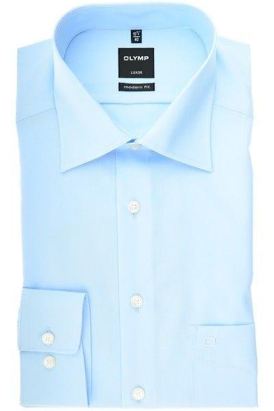 Olymp Hemd - Modern Fit - bleu, Einfarbig