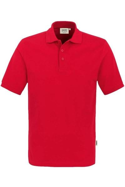 HAKRO Regular Fit Poloshirt rot, Einfarbig