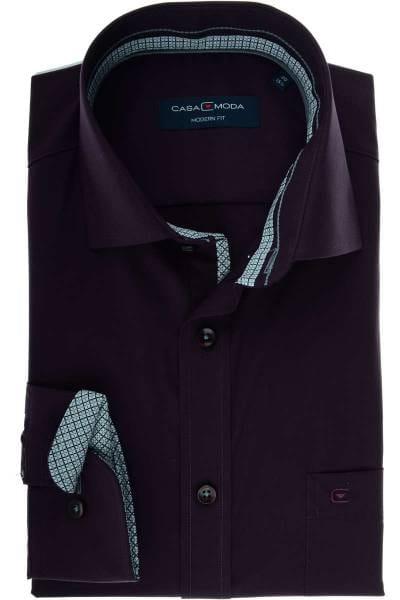 Casa Moda Modern Fit Hemd violett, Einfarbig