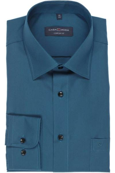 Casa Moda Comfort Fit Hemd türkis, Einfarbig