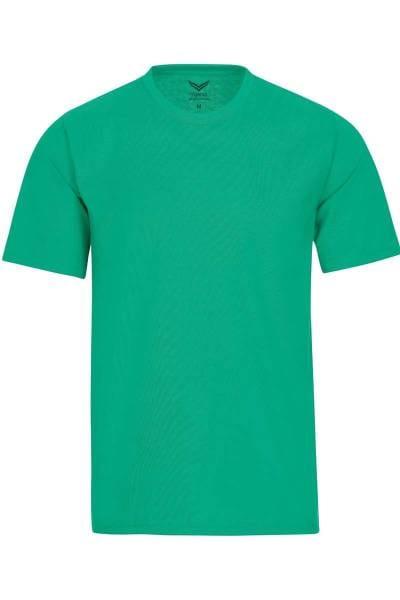 TRIGEMA T-Shirt Rundhals grün, einfarbig