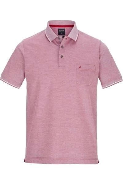 Olymp Modern Fit Poloshirt dunkelrot, Einfarbig