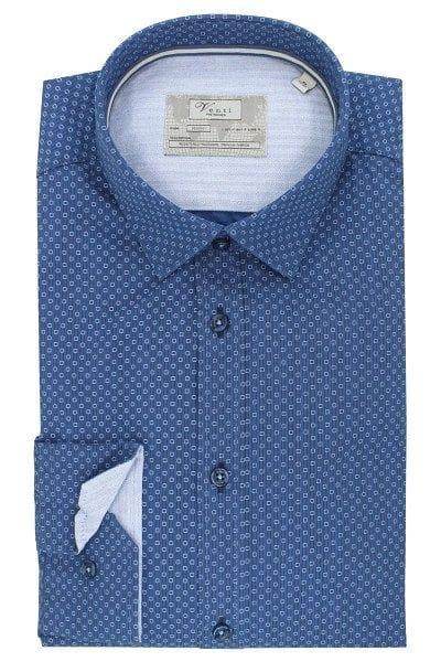 Venti Hemd - Slim Fit - blau, Gemustert