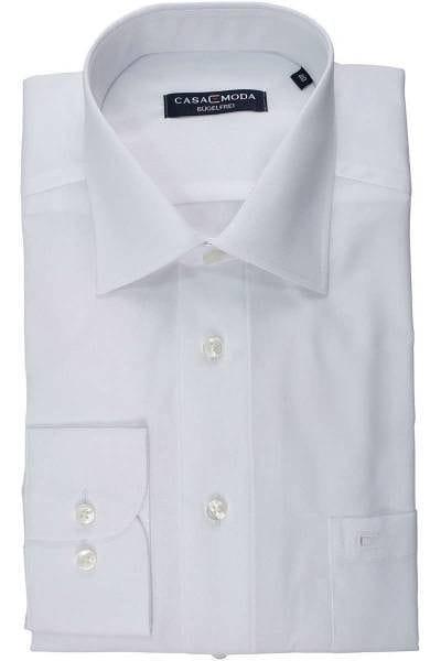 Casa Moda Comfort Fit Hemd weiss, Einfarbig