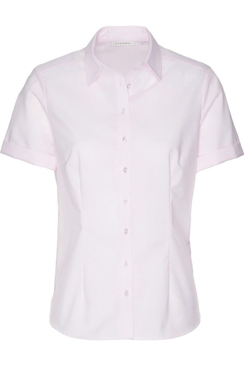eterna bluse comfort fit in kurzarm 22cm rose einfarbig. Black Bedroom Furniture Sets. Home Design Ideas