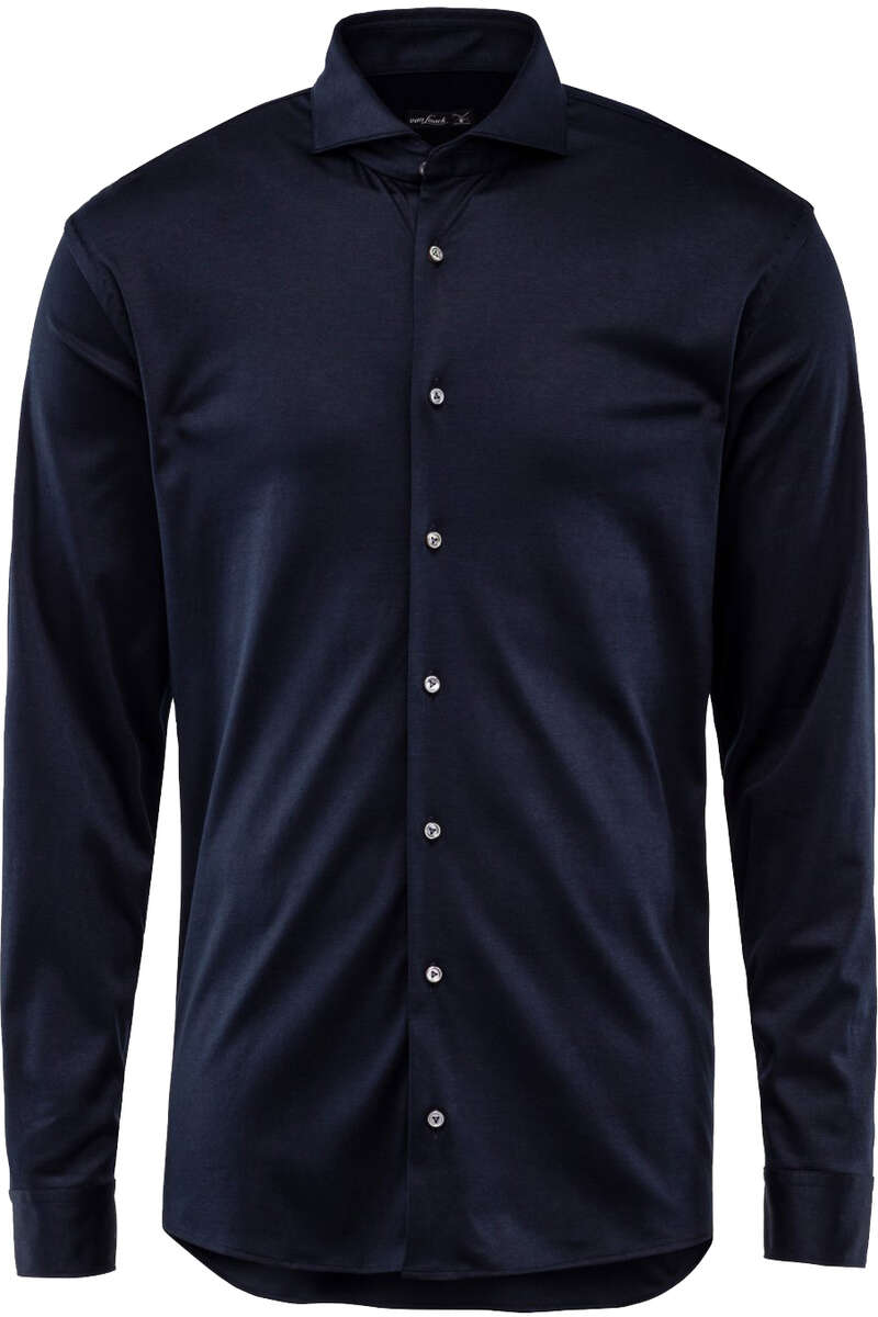 van Laack Tailor Fit Jerseyhemd navy, Einfarbig M