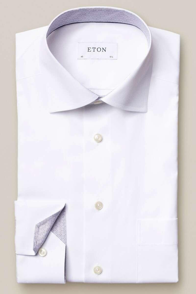 ETON Classic Fit Hemd weiss, Einfarbig 45 - XXL