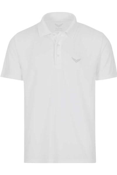 TRIGEMA COOLMAX Comfort Fit Poloshirt weiss, Einfarbig