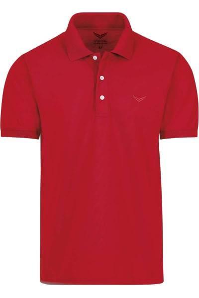 TRIGEMA Comfort Fit Poloshirt rot, Einfarbig