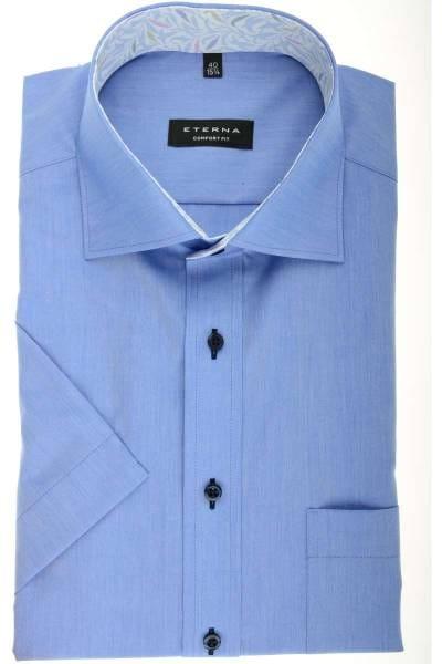 Hochwertiges ETERNA Comfort Fit Kurzarmhemd in der Farbe blau weiss ... 1bd200fef3