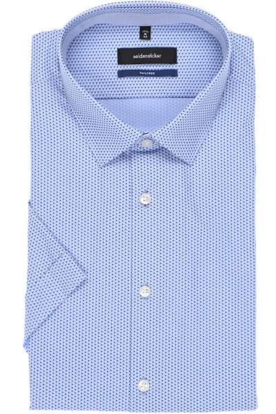 Seidensticker Tailored Hemd blau, Gepunktet