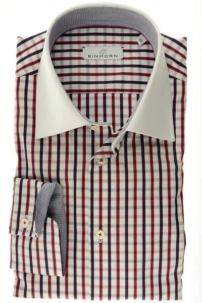Einhorn Hemd - Modern Fit -, Kariert