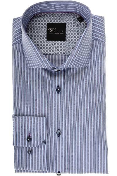 Venti Slim Fit Hemd blau/hellblau/weiss, Gestreift